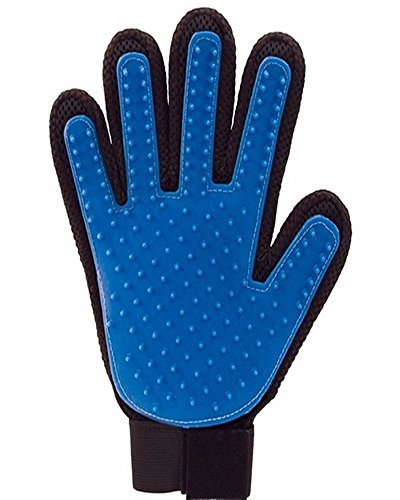 Pet Cleaning Brush Dog Massage Hair Removal Grooming Magic Deshedding Glove blue 1 - A Oakley Store Find