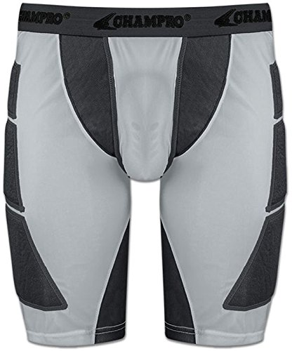 Champroスポーツ大人用on-deck野球Sliding Shorts B010ODDMVQ Adult Medium|グレー グレー Adult Medium