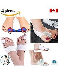 4-Piece Set - Dr Go Bunion Pads, Toe Pads, Foot Pads Protector Exercise Splint 1