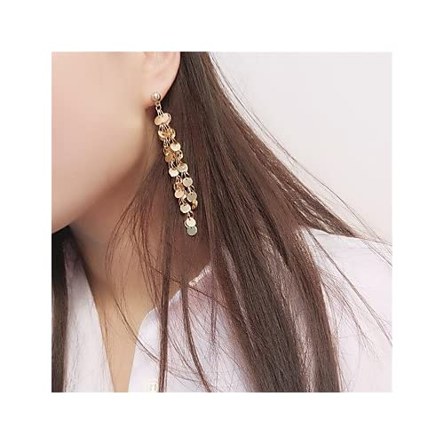 MJW&EH Femme Boucles d'oreille goutte Boucles d'oreilles à billes , Gland Mode Cuivre Forme de Cercle Bijoux Soirée Bar Bijoux de fantaisie
