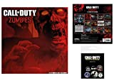 Set: Call Of Duty, Zombies, Official Calendar 2017 (12x12 inches) And 1x Badge Pack (6x4 inches)