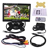 Kuman 7 Inch HD 1024*600 TFT LCD Screen Display Monitor for Raspberry Pi 3 3 2B B RPi 1 B+ A+ with HDMI VGA Input, DVD VCR Car with Remote HDMI Cable SC7J
