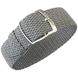 Eulit Panama 16mm Grey Perlon Watch Strap
