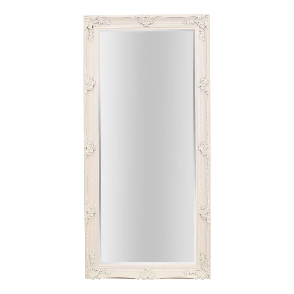 Barcelona Trading Large Cream Vintage Antique Style Shabby Chic Leaner/Wall Mirror