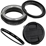 Fotodiox 52mm Macro Reverse Ring Kit with G and DX Type Lens Aperture Control, 52mm Lens Cap and 52mm UV Protector for Nikon Cameras