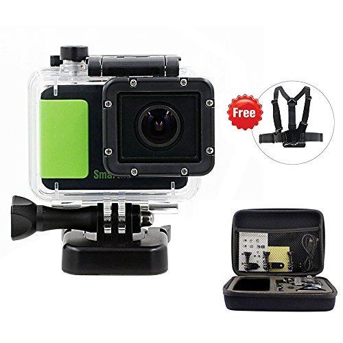 Jeasun 1080P Waterproof Action Camera Novatek NT96650 DSP DV 3MP HD CMOS Image Sensor DVR Camcorder + Mounting Accessories Kit (Green) by Jeasun