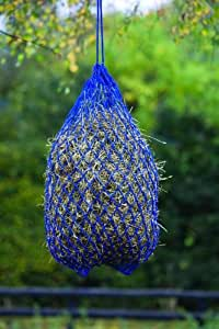 """Shires Premium Poly Cord 2"""" Hole Hay Net, Blue"""