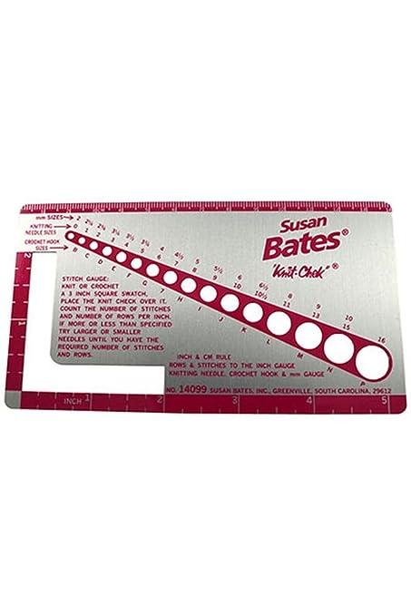 Amazon Susan Bates Knit Chek Needle And Stitch Gauge