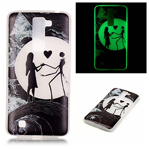 LG K10 Case, LG Premier LTE Case, Luminous Noctilucent Glow in the Dark Case Matching Design Protective Phone Back Cover TPU Shell Case for LG K10 (Earth)