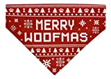 for Dogs Merry Woofmas Christmas Outfit for Dogs Ugly Xmas Sweater Themed Small Dog Bandana Scarf for Dogs Bib Woofmas