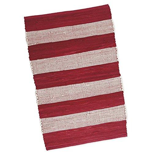 (DII Red & White Stripe Chindi Rug, Multi)