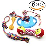 Dog Chew Toys, 6 PCS Pet Puppy Rope Toys Set Doggy Rope Ball Puppy Teeth Clean Dental Toy For Small & Medium Dog For Sale