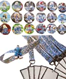 Smurf Birthday Party Set - 18 Favor Badges & 12 Smurf Lanyards w Name Card