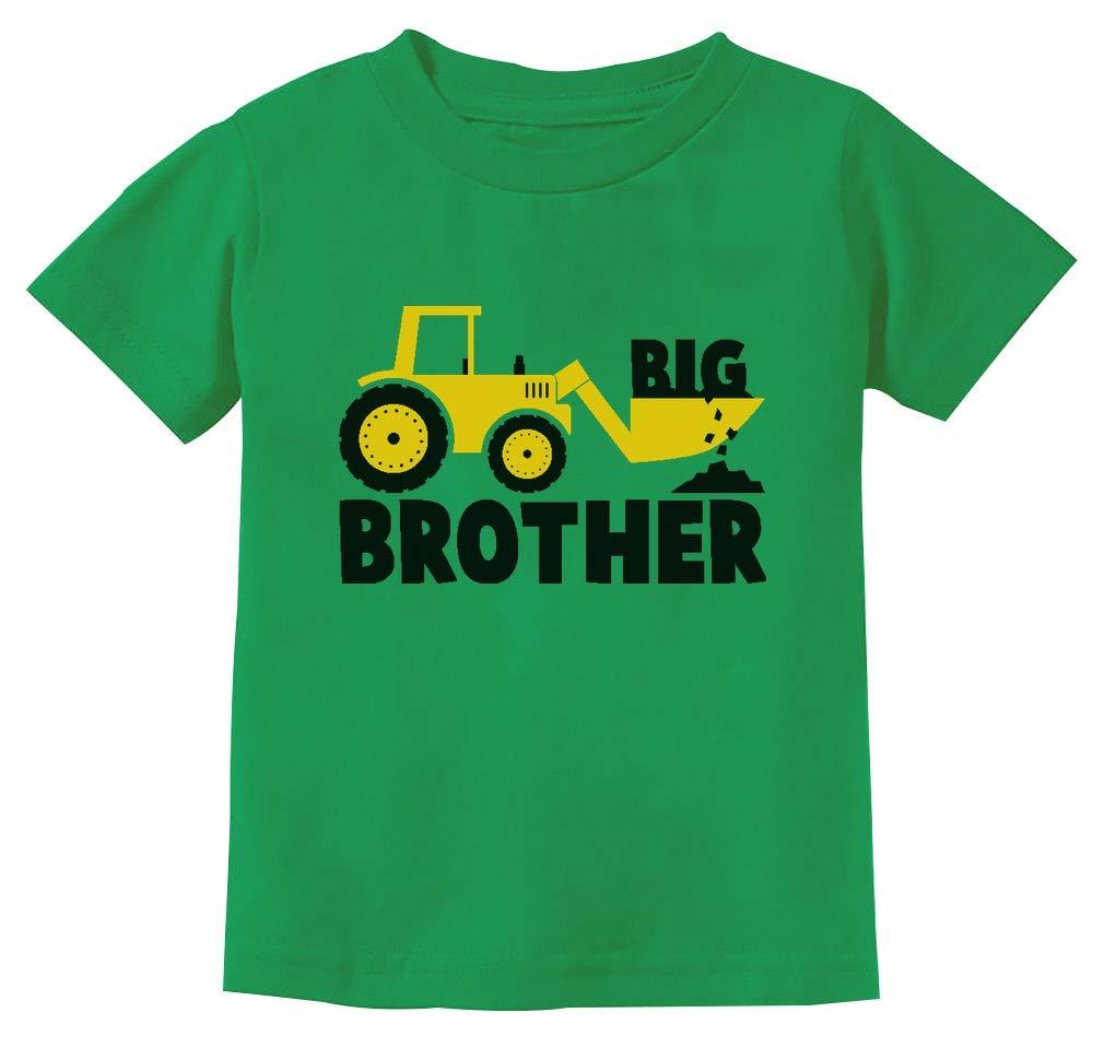 Tstars - Big Brother Gift for Tractor Loving Boys Toddler/Infant Kids T-Shirt 3T Green by Tstars