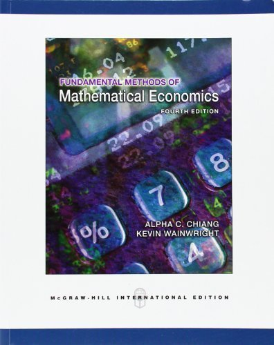 Fundamental Methods of Mathematical Economics by Chiang, Alpha C, Wainwright, Kevin (2005) Paperback