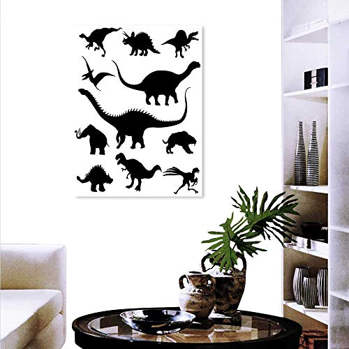 Anyangeight Dinosaur The Picture Home Decoration Various Black Dino  Silhouettes Jurassic Evolution Extinction Predator Animals Wall Stickers  20