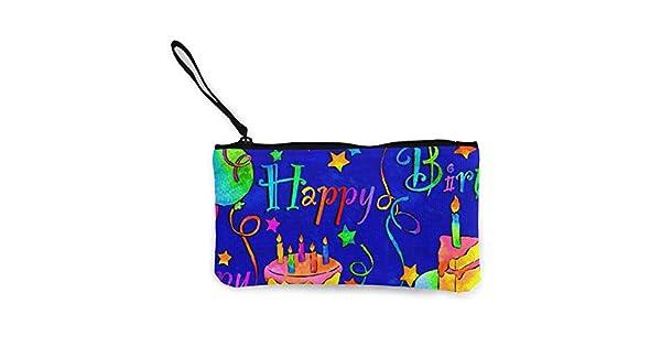 Amazon.com: Happy Birthday Monedero de viaje para maquillaje ...