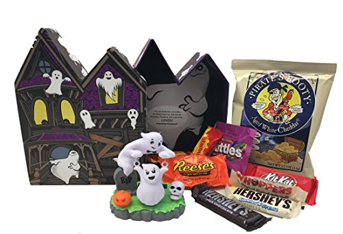 Unlocking Greatness You Are Loved Dancing Solar Powered Figurine & Chocolate Candy Halloween Gift Basket (Ghost)