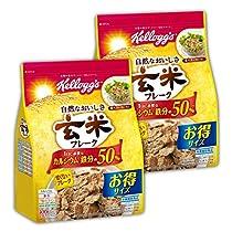 【Amazon.co.jp限定】 ケロッグ 玄米フレーク徳用袋 400gx2個セット