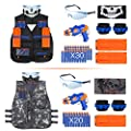 VOROSY Tactical Vest Kit for Guns for Boys N-Strike Elite Series with Foam Darts for Kids