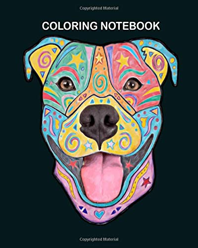 coloring book pitbull dog colorful hand drawn 8 x 10 inches book coloring 9781706670445 amazon com books coloring book pitbull dog colorful