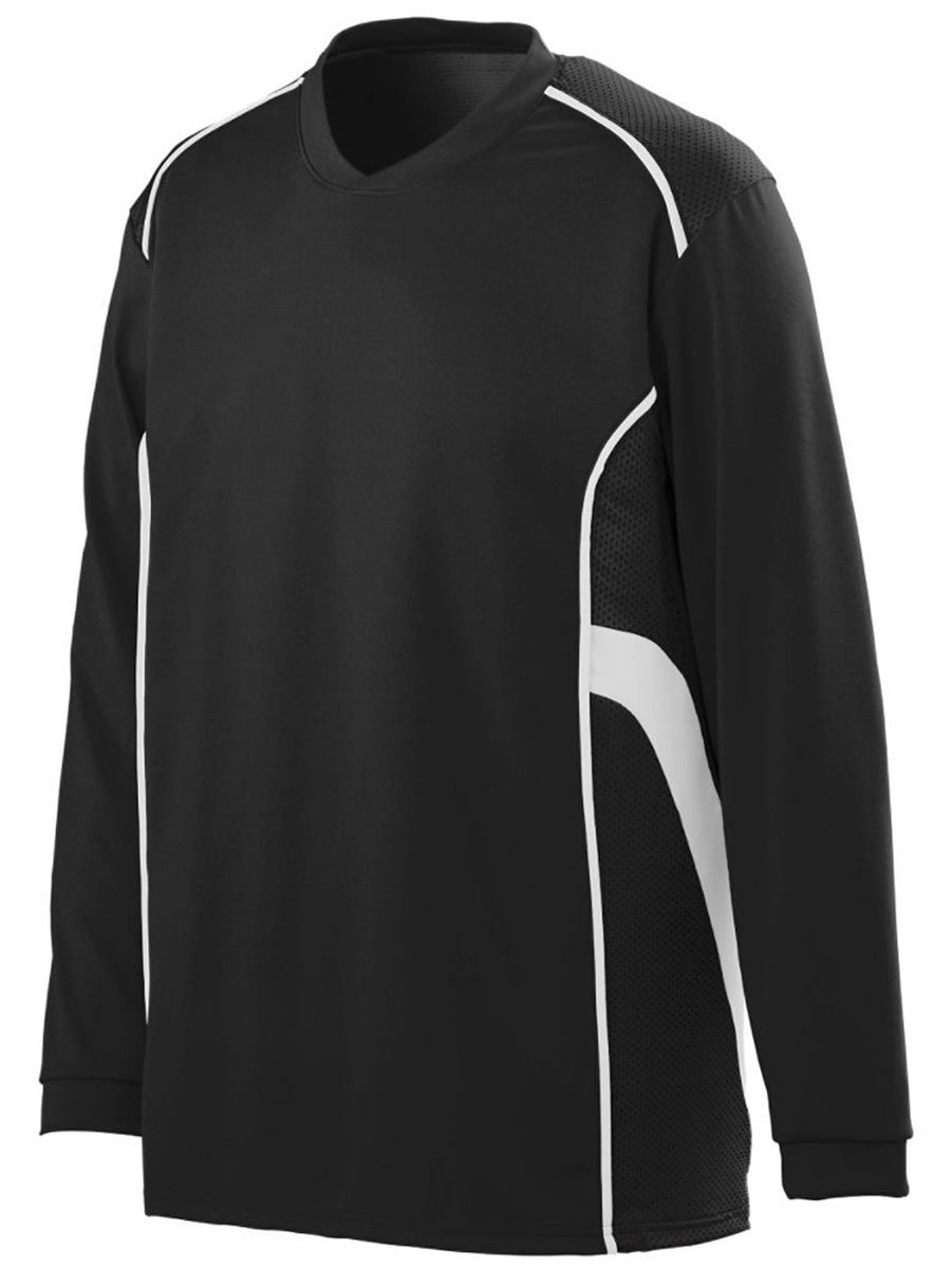 AugustaメンズWinning Streak Long Sleeve Jersey B00HU4003Gブラック/ホワイト Small