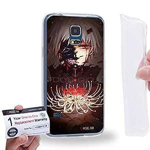 Case88 [Samsung Galaxy S5 Mini] Gel TPU Carcasa/Funda & Tarjeta de garantía - Tokyo Ghoul ¡ÔA Tokyo Ghoul: RE Tokyo Ghoul Jack Kaneki Ken CCG Haise Sasaki 1808