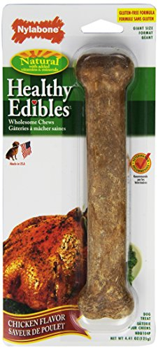 Edible Bone - Nylabone Healthy Edibles Giant Chicken Flavored Dog Treat Bones