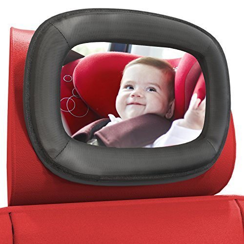 - LARGE Baby Car Mirror by Baby Everest - Best Rear-Facing Back Seat Mirror - Adjustable, Shatterproof and Crash Tested - Rear View Mirror - For Back Seat Plus Free Gift Box - *Satisfaction Guaranteed*