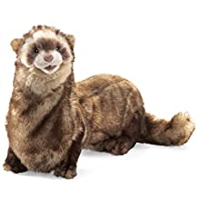 Folkmanis Puppets Ferret Hand Puppet, Brown