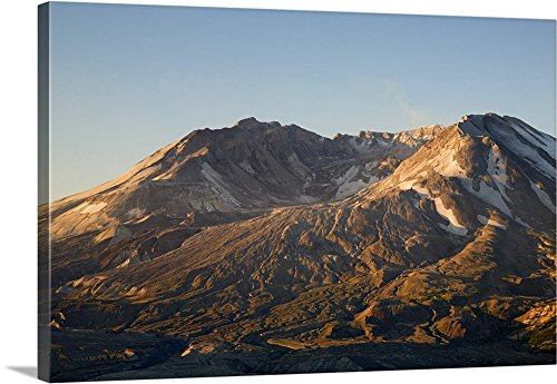 Jamie and Judy Wild Premium Thick-Wrap Canvas Wall Art Print entitled Mt. St. Helens crater with lava dome, view from Johnston Ridge 48