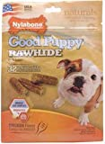 Nylabone USA Rawhide Puppy Calcium, 32 Count Pouch, My Pet Supplies