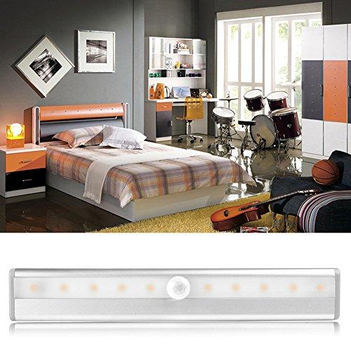 Closet Lights Touch Light,Wireless Motion Sensor Cabinet Lights 10-LED USB Rechargeable Closet Lights LED Under Cabinet Lighting(White) by cyclamen9 (Image #4)