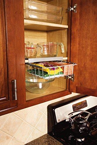 Rubbermaid Slide Out Under Shelf Storage Basket Titanium