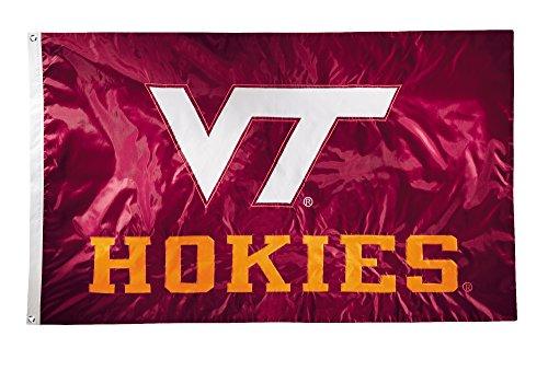 NCAA Virginia Tech Hokies 2-Sided Nylon Applique Flag with Grommets, 3' x 5', Cardinal