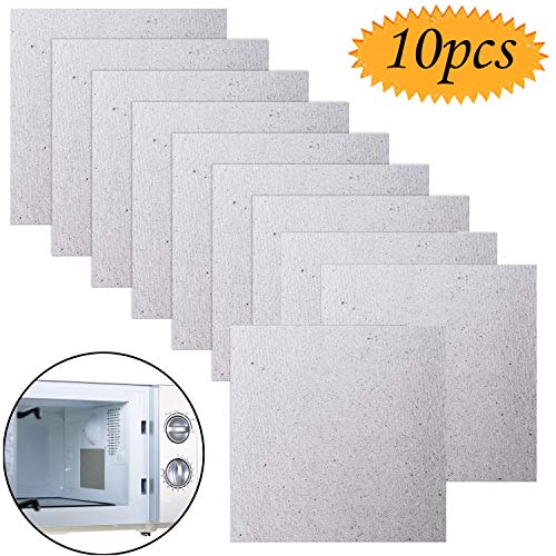 Microwave Mica, Grocery House 10 Pack Waveguide Cover Mica Plates Sheets Microwave Oven Repairing Part Universal Cut to…