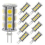 4 watt type g bulb - G4 Led Light Bulb,Bi-pin G4 Base T3 JC Type 4Watt Led Bulb Lighting Equivalent 30W Halogen Bulbs, AC/DC 12V Daylight White 6000K Light Bulbs for Landscape, Ceiling, Marine Boats, Yachts (Pack of 8)