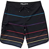Billabong Men's 73 X Stripe Boardshort, Black, 36