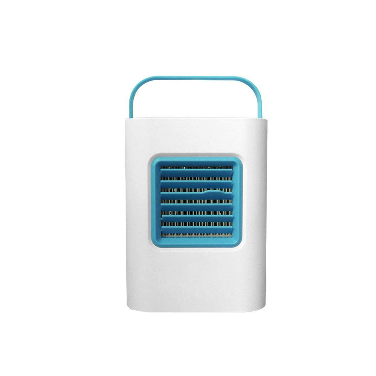 Meiliwanju Personal Air Cooler, USB Evaporative Coolers with Waterbox, Portable LED Table Fan 3 Fan Speed USB Charging Ultra-Quiet Table Fan (Blue, Free)