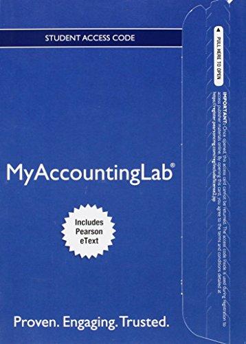 Myaccountinglab F/Gordon:Intermed.Acct.