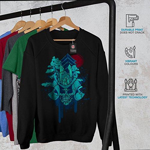 Flaming Casual Jumper wellcoda Animal Metal Death Mens Sweatshirt