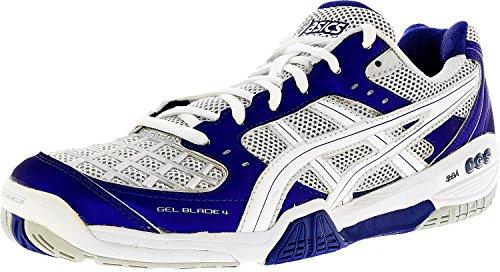 ASICS Women's Gel-Blade 4 Shoe,Purple/White/Lightning,7.5 M US (Court Iv Tennis Shoe)