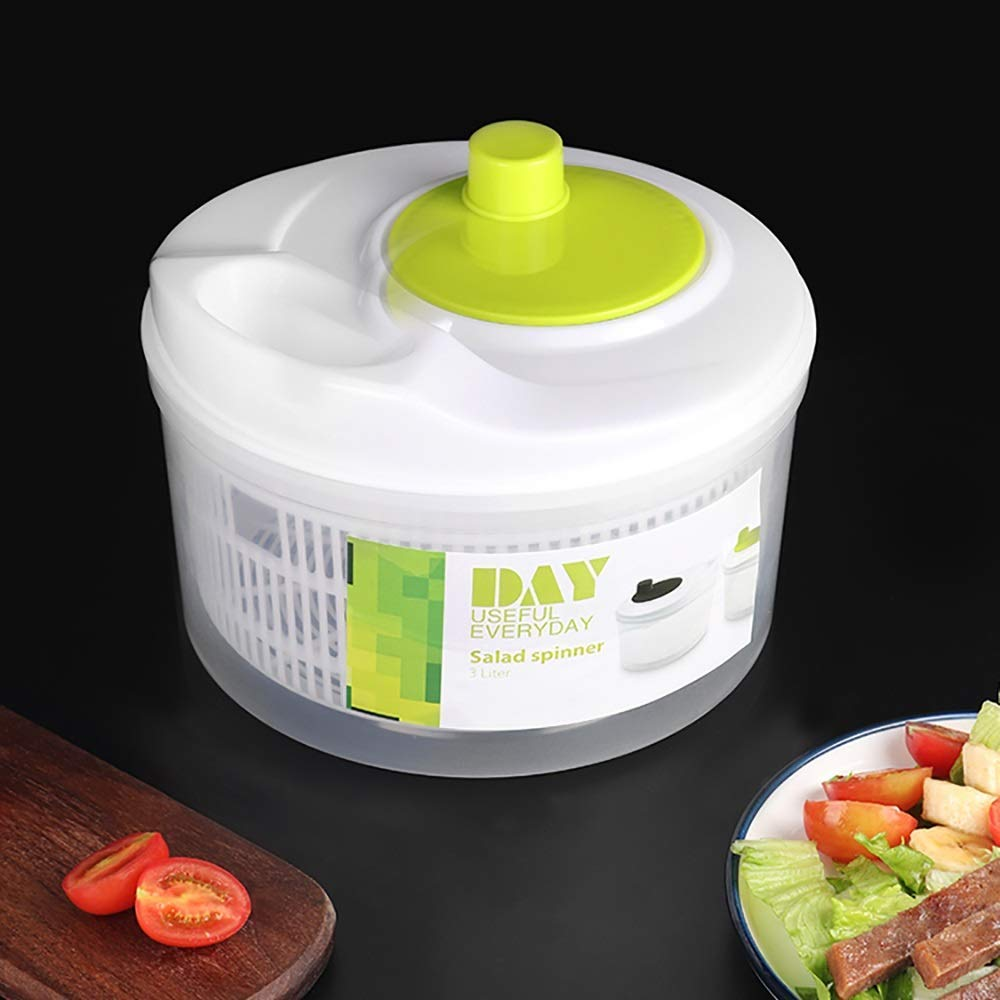 Aich Kitchen Fruit Salad Spinner Water Drain Basket Vegetable Dryer Salad Spinner Dehydrator Household Salad Sink Manual Creative by Aich