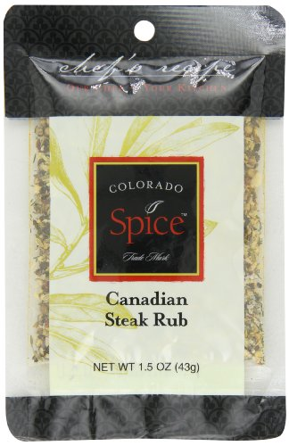 Colorado Spice Organic Canadian Steak Rub, 1.5 Ounce Pouch (Pack of 12)