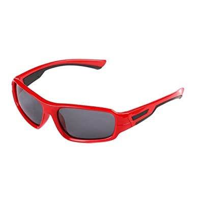 07a9e2cfeb XADREZ Outdoor Polarized Sunglasses for Children Portable TAC Kids Sports  Sunglasses with Protection Lens for Youth Boys Girls (Red)  Amazon.co.uk   ...