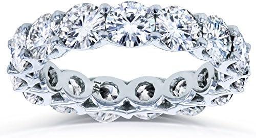 Kobelli Round Brilliant-cut Prong-set Eternity Moissanite Wedding Band 4 3/5 Carats TGW in 14k White Gold