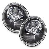 vw auto headlights - PERDE VW Beetle Bug Halogen Headlights Headlamps Black Housing Set Pair