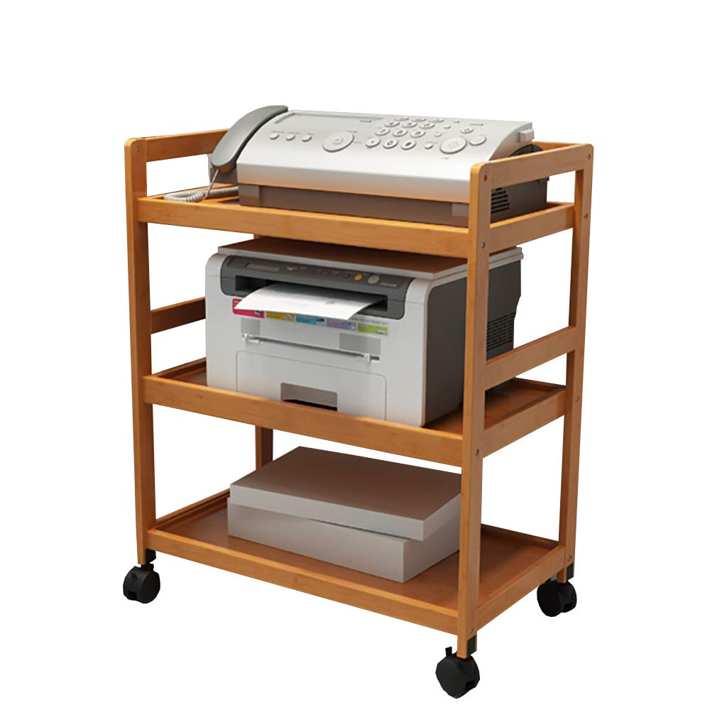 Kitchen Shelf Rack Printer Rack, Desk File Double Storage Rack Modern Minimalist Multi-Layer Rack Phone Rack 70/60/53/43cm Kitchen Storage Racks (Size : 603273cm)