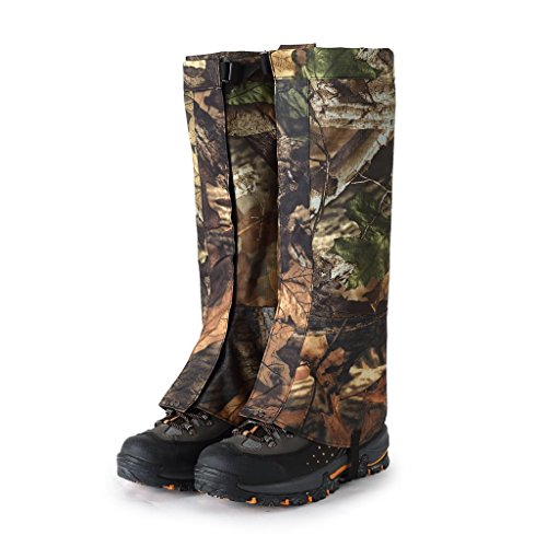 Yundxi Camo Legging Gaiters Waterproof Snowboard Boots Cover Trekking Shoes Gaitors for Hunting Walking Camping Outdoor Living Desert