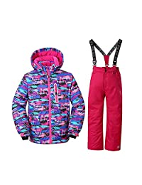 Sporting Style Girl's Ski Jacket Pants Snow Insulated Suit Windproof & Waterproof